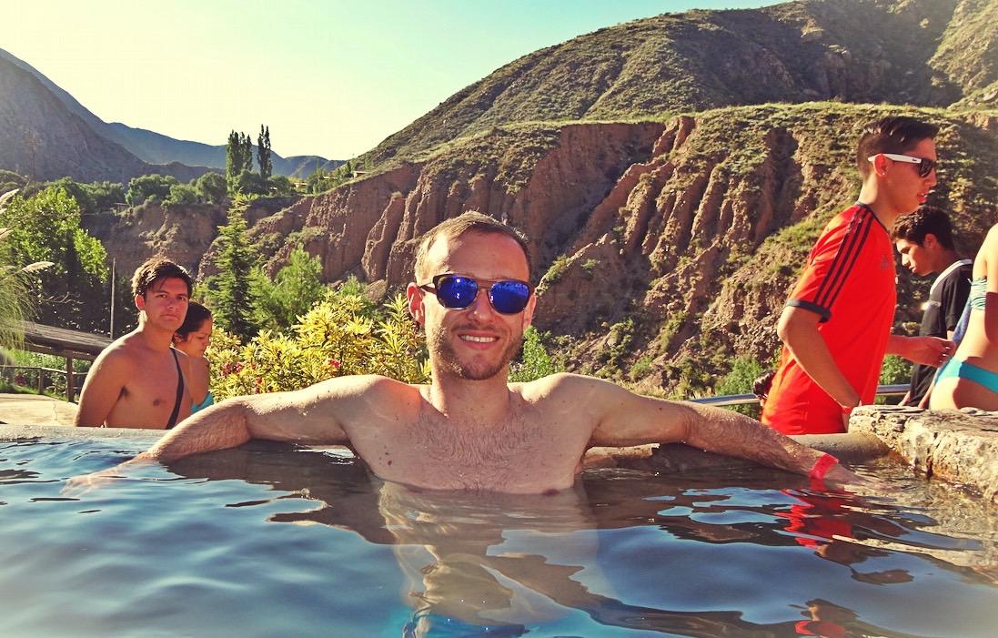 relaxing at Hot Springs, Mendoza