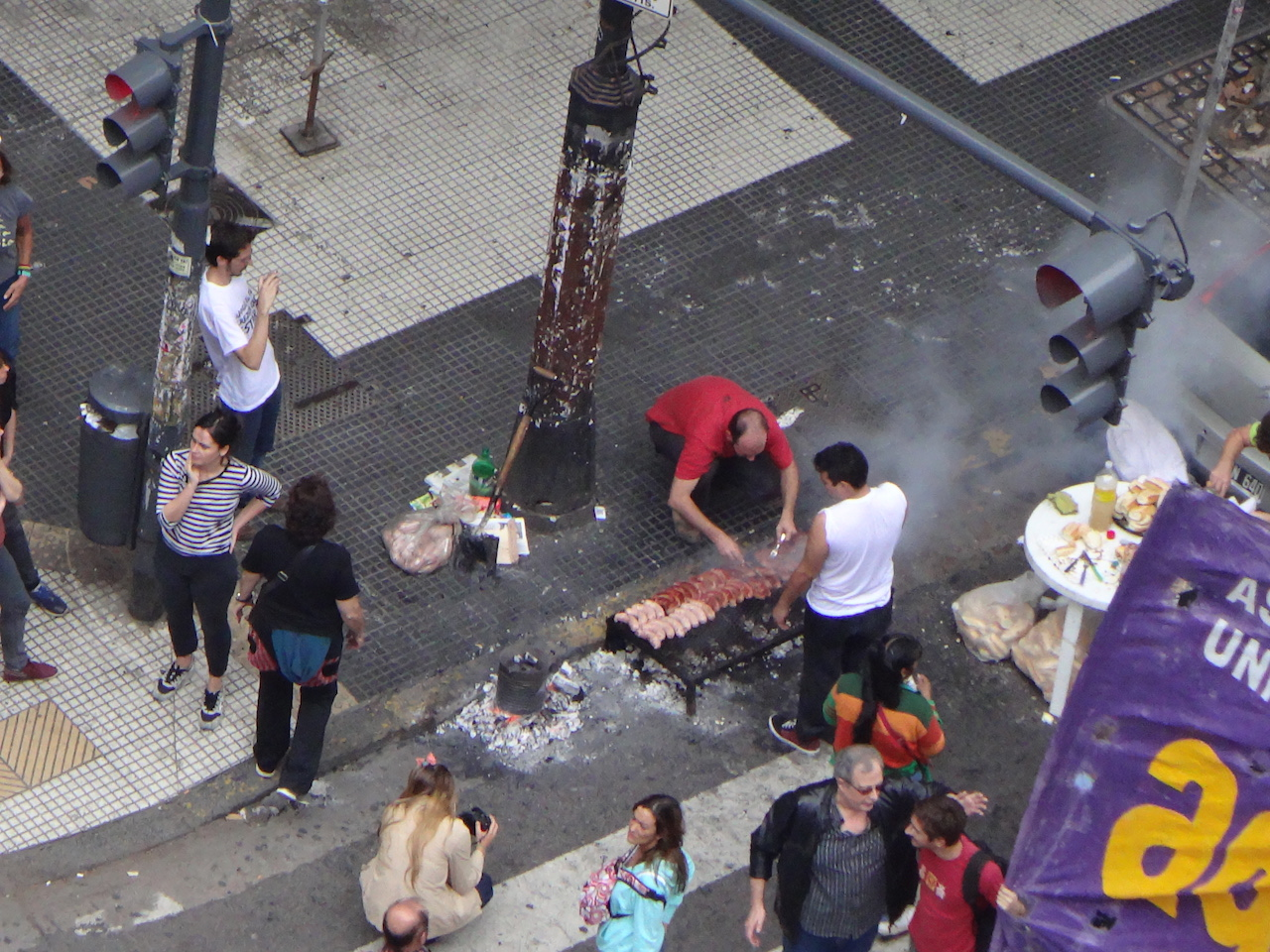 BBQ in the middle of the streets - Buenos Aires