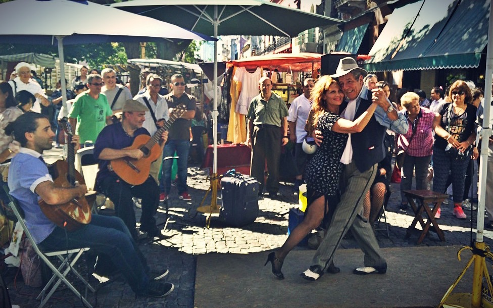 tango show at the market of San Telmo