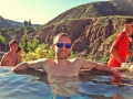 relaxing at Hot Springs, Mendoza